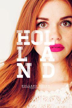 Holland Roden; Lydia Martin on Teen Wolf.