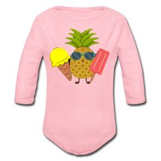 Geschenke Shop | Ananas - Baby Bio-Langarm-Body Baby Kind, Embroidery Files, Kind Mode, Baby Wearing, Babys, Onesies, Infant, Sweatshirts, Sweaters