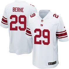 Men's Nike New York Giants #29 Nat Berhe Game White NFL Jersey