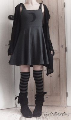 Love the dress and the boots, if only the dress was a bit longer