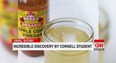 1-2 teaspoons of Apple Cider Vinegar with Garcinia Cambosia Student at Cornell University Amazing Weight Loss!