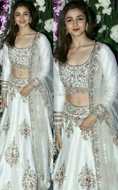 Alia bhatt looking beautiful in white lehnga #instagram #wedding