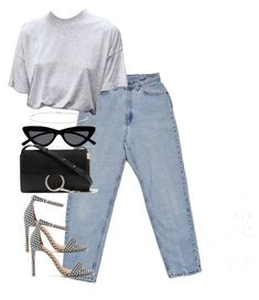 """""""Untitled #5152"""" by theeuropeancloset on Polyvore featuring Levi's, Le Specs, Chloé and Suzanne Kalan"""