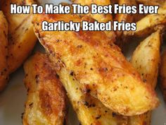 Do you like potatoes and garlic. If so then your going to love these oh so delicious garlicky baked fries. They are oh so delicious and so easy to make. They are also really healthy for you.