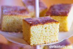 Vaniljesauskake | Det søte liv Delicious Cake Recipes, Yummy Cakes, Fudgy Brownies, Blondies, Cornbread, Vanilla Cake, Sweet Tooth, Good Food, Food And Drink