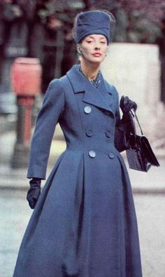 Image result for Dior summer coat 1950 pointed collar