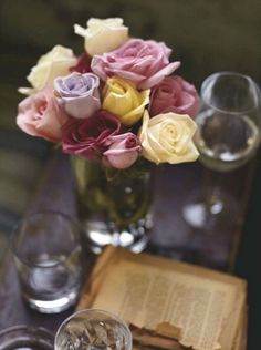 roses in muted colors
