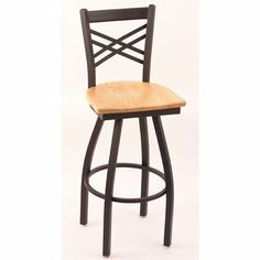 "25"" Crossback Counter Stool with Wood Seat Frame Finish: Black Wrinkle, Seat Finish: Dark Cherry by Holland Bar Stool. $145.99. 25280-Black Wrinkle-Dark Cherry Frame Finish: Black Wrinkle, Seat Finish: Dark Cherry Features: -Wood seat.-Commercial grade quality.-Made in the USA.-25'' seat height. Options: -Frame is available in 2 finishes, seat available in 3 finishes. Construction: -Solid weld frame construction. Color/Finish: -Epoxy baked powder coat finish. Dim..."