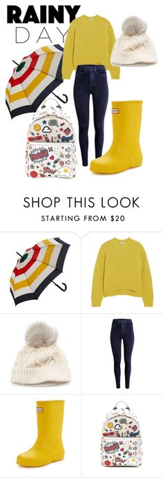 """Senza titolo #190"" by pri-sclavi ❤ liked on Polyvore featuring Hudson's Bay Company, Acne Studios, SIJJL, Hunter and Anya Hindmarch"