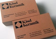 Letterpressed business cards for Swedish pottery Kisel Keramik.