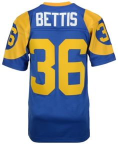 12aaa211081 Mitchell & Ness Men's Jerome Bettis Los Angeles Rams Replica Throwback  Jersey - Blue M