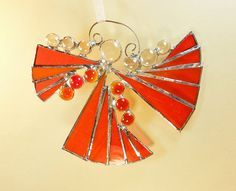 Christmas Angel Stained Glass Suncatcher by jacquiesummer on Etsy