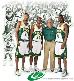 Rashard Lewis, Ray Allen, Bob Hill and Chris Wilcox.