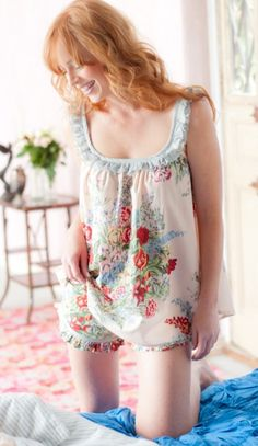 I'll have to get my babydoll pajamas for the summer.  One of my childhood favorites.
