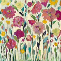 She Lived in Full Bloom (36x36) by Carrie Schmitt at carrieschmittdesign.com