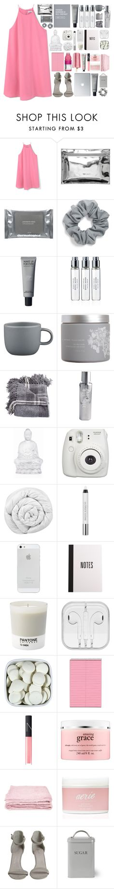 """""""give it up for the kids, eating good, getting lit"""" by magcongirl6154 ❤ liked on Polyvore featuring MANGO, Monki, Dermalogica, Natasha Couture, Byredo, CB2, red flower, Paul's Boutique, Lalique and Fujifilm"""