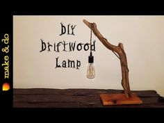 DIY - How to make this awesome driftwood rope lamp Driftwood Flooring, Driftwood Furniture, Driftwood Projects, Driftwood Ideas, Wooden Desk Lamp, Led Desk Lamp, Resin And Wood Diy, Driftwood Chandelier, Industrial Style Lamps