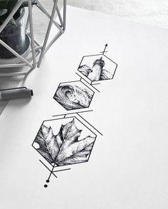 dessin de tatouage de style-géométrique dotwork
