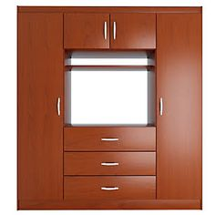 Wardrobe with tv stand california closets bedroom for Closet para espacios pequenos