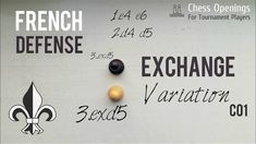 Exchange Variation of the French Defense ⎸Chess Openings Training Exercises, Chess, Theory, French, Training Workouts, Gingham, Workout Exercises, French People, French Language