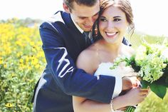 Cute and genuine. Bride and Groom.