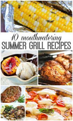 10 Summer Grilling Recipes #sp