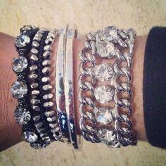 #arm party #bracelets #bling  http://www.chloeandisabel.com/boutique/loridelarosa