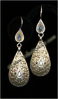 Tribe Nawaar Vintage Turkoman Earrings Collectors Series Tribal Earrings Bohemian Gypsy Chic Ethnic
