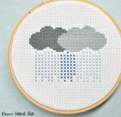 rain clouds cross stitch