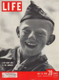 """1950 LIFE MAGAZINE vintage print magazine cover """"Boy Scout"""" ~ July 24, 1950 ~ A Boy Scout Goes To The Jamboree ~"""