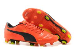 puma evopower 2 fg leather red black lime football boots uk sale