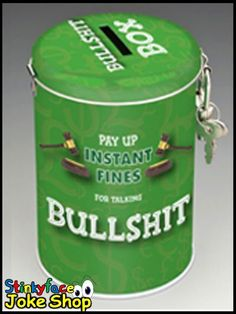 Fine Tin for Talking Bullshit Funny Novelty Money Bank Savings Gifts for Him Funny Gifts For Him, Joke Gifts, Novelty Gifts, Jokes, Bullshit, Tin, Husky Jokes, Fun Gifts, Pewter