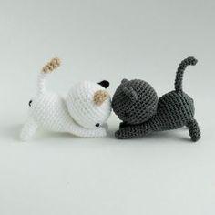Häkelblog Verzeichnis : Kleine Katzen - Häkelanleitung