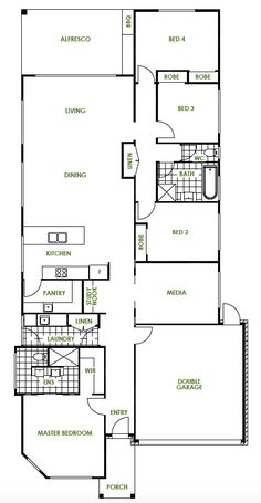 Bayside Floor Plan by Green Homes Australia Green House Design, Garage Entry, Green Homes, Energy Efficient Homes, Double Garage, Cruelty Free Makeup, New Home Designs, Natural Cleaning Products, Planer