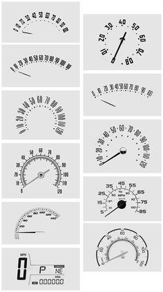 speedometer design - Google Search