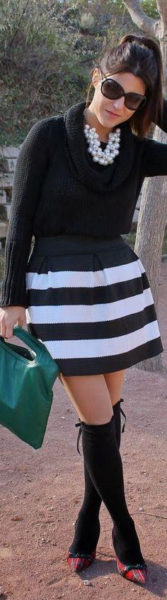 #Striped #Skirt by Fashion Avenue By Adriana