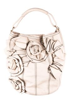 e59a7d4fb18e5 VALENTINO White Leather Flower Shoulder Hobo Bag  fashion  clothing  shoes   accessories