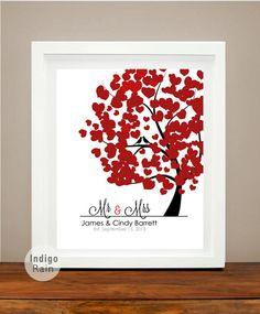 Lovebirds Family Tree Wedding gift  Couples Gift by IndigoRain, $19.00