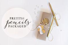 Style Watch: Pretty Packaged Metallic Pencils