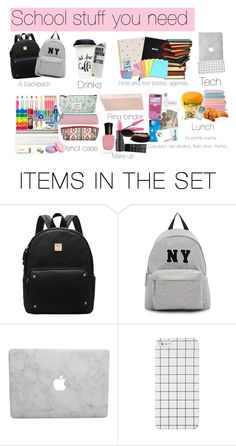 """""""School stuff you need"""" by pernille-sophie ❤ liked on Polyvore featuring art"""