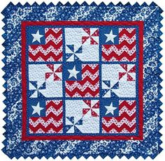 True Blue Pattern would make a great Quilt of Valor