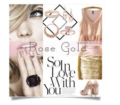 """""""rose gold love"""" by smillafrilla ❤ liked on Polyvore featuring Yves Saint Laurent, Rupert Sanderson, Anne Klein, Ippolita and Ellen Conde"""