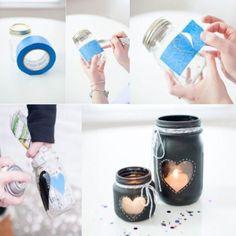 PAPAI DECOR | chame a criançada e crie potinhos de velas para decorar a casa no dia dos pais. É super fácil, só seguir as orientações da foto! ;) #Tecnisa #diadospais #façavcmesmo #diy #vela #TecnisaDecor Foto: Etsy