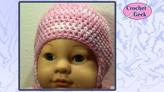 How to Crochet Baby Cap with Earflaps