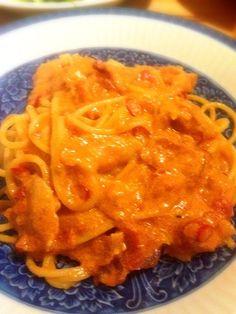 ご飯屋さんでチリパウダーが売っていてレシピも入っていたので作ってみました♡美味しかったです(^^) - 3件のもぐもぐ - チリカルボナーラ by mayarui