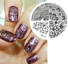 Elegant Charming Flower Nail Art Stamp Template Image Plate BORN PRETTY 17