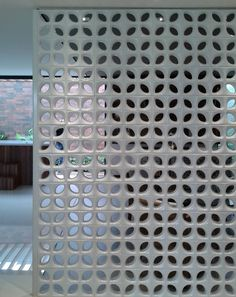 Cobogó Recife branco #concrete_block  #block_screen #perforated_block
