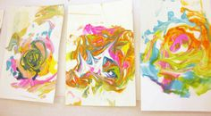 Shaving Cream Paper Marbling Tutorial - Kids Art Classes, Camps, Parties and Events - Small Hands Big Art Art For Kids, Crafts For Kids, Kids Fun, Summer Kids, Shaving Cream Painting, Marble Art, Art Education, Museum Education, Art Plastique