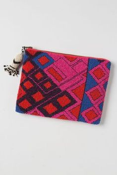 Large Fractal Beaded Pouch