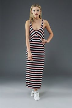 Miriam Mesh Stripe Dress